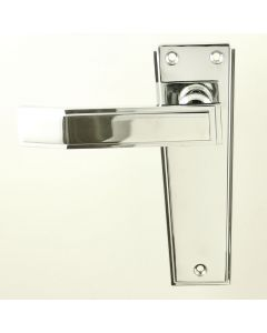 Art Deco Lever Suite - Polished Chrome