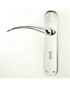 Wing Lever Handle Suite - Polished Chrome