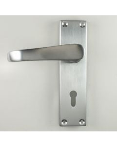 Avon Straight Victorian Handle Suite - Satin Chrome