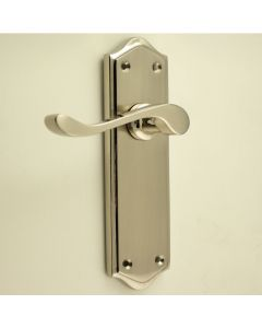 Buckingham Lever Handle Suite - Dual Finish - Satin Nickel & Polished Nickel