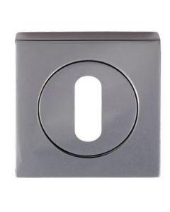 Standard Profile Escutcheon - Square Rose - Black Nickel