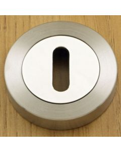 Standard Profile Escutcheons - Dual Finish - Satin Nickel & Polished Chrome