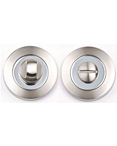 Turn & Release Set - Dual Finish - Satin Nickel & Polished Chrome