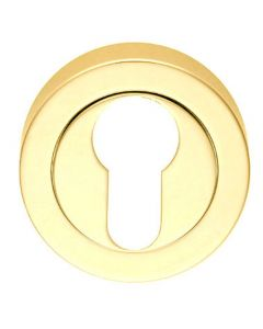 Euro Profile Escutcheon - Polished Brass