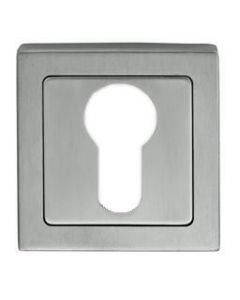 Euro Profile Square Escutcheon - Dual Finish - Satin & Polished Stainless Steel
