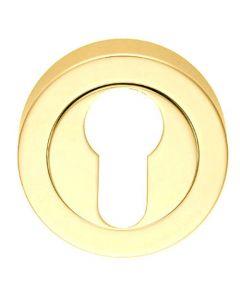 Euro Profile Escutcheon - Polished Brass