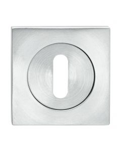 Standard Profile Escutcheon - Square Shape - Satin Stainless Steel