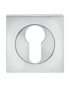 Euro Profile Escutcheon - Square Shape - Satin Stainless Steel