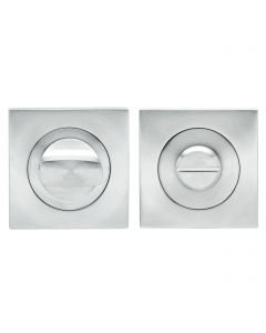 Turn & Release Set - Square Shape - Satin Stainless Steel