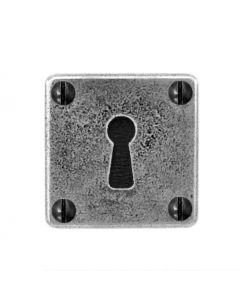 Standard Profile Escutcheon - Square Shape - Pewter