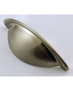 Classic Design Half Moon Shape Cup Handle - Satin Nickel