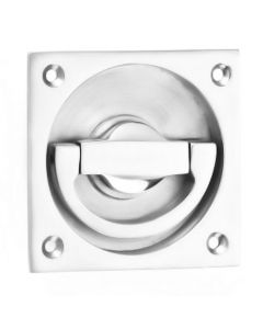 Flush Fitting Ring Style Operational Door Handle - Polished Chrome