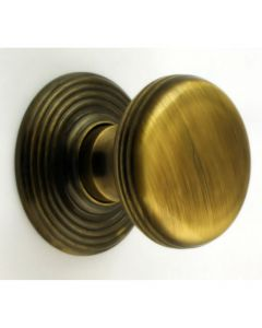 Ringed Pattern Cupboard Knobs - Available In 3 Sizes - Florentine Bronze