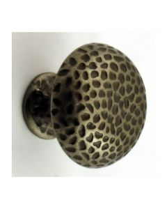 Rustic Hammered Style Mushroom Shape Cupboard Knobs - 2 Sizes - Antique Steel
