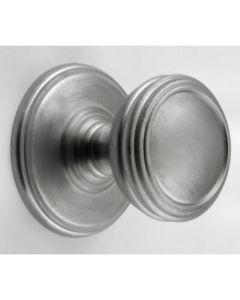 Ringed Cupboard Knobs - Available In 3 Sizes - Brushed Satin Chrome