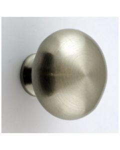 Plain Mushroom Shape Cupboard Knobs - 4 Sizes Available - Brushed Satin Nickel