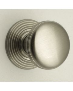 Ringed Pattern Cupboard Knobs - Available In 3 Sizes - Brushed Satin Nickel