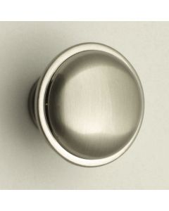 Shaker Style Single Step Pattern Cupboard Knobs - 2 Sizes - Satin Nickel