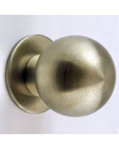 Ball Shape Cupboard Knobs With Loose Rose - Satin Stainless Steel
