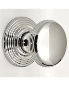 Ringed Pattern Cupboard Knobs - Available In 3 Sizes - Polished Chrome Plated