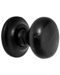 Mushroom Shape Cast Iron Cupboard Knobs - 3 Sizes - Smooth Black Antique