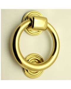 Ring Style Door Knocker - Polished Brass