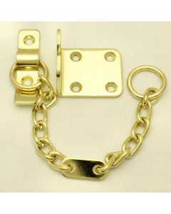 Door Chain Polished Brass