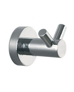 Bond Range - Double Robe Hook - Polished Chrome