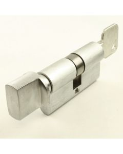 5 Pin - Euro Profile Cylinders - Key / Turn - Satin Chrome