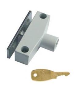 Automatic Window Snap Lock With Cut Style Key - White Finish