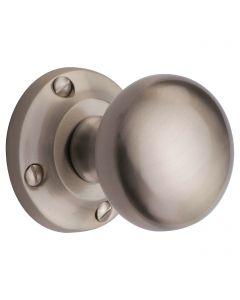 Victoria Round Mushroom Shape Mortice Door Knobs - Satin Nickel