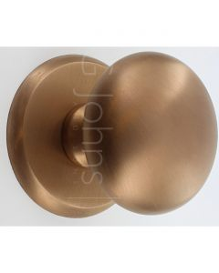 Centre Front Door Knob - Copper Bronze PVD - 20 Year Finish Guarantee