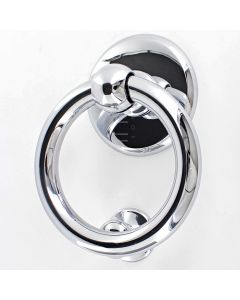 Ring Style Door Knocker - PVD Polished Chrome - 20 Year Finish Guarantee