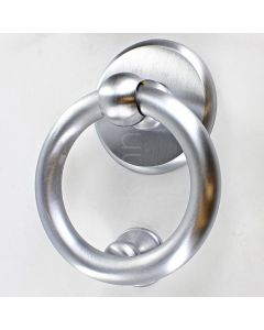 Ring Style Door Knocker - PVD Satin Chrome - 20 Year Finish Guarantee