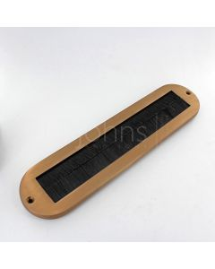 Draught Seal - Internal Letter Plate Brush Seal - 330mm x 77mm - Copper Bronze PVD Frame With Black Brush