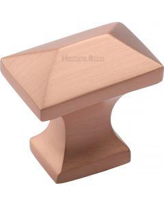 Pyramid Cupboard Knob - 35mm - Satin Copper