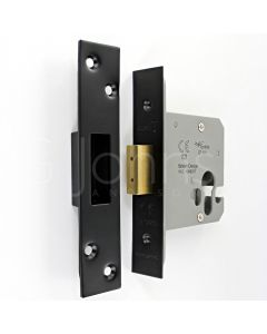 Architectural Quality Euro Profile Dead Lock Case - CE Marked - Fire Rated - Certifire Aprroved - Matt Black