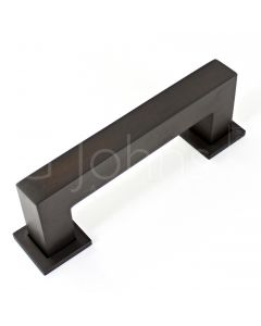 rectangular-cube-shape-cabinet-pull-handle-with-optional-base-rose-dark-bronze