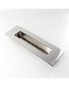Rectangular Design Large Flush Pull Handle For Sliding & Hinged Doors - 180mm x 60mm - Polished Stainless Steel