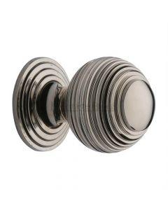 Reeded Cupboard Knob - 32mm - Polished Nickel