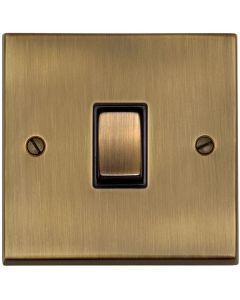 Richmond Elite Light Switches & Socket Range - Low Profile Plate With Squared Edges - Antique Brass