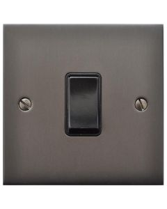 Richmond Elite Low Profile Concealed Fix Plate Light Switch & Socket Range - Flat Screwless Plate With Rounded Edges - Matt Bronze