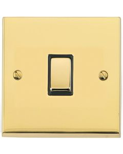 Richmond Elite Light Switch & Socket Range - Low Profile Plate With Squared Edges - Polished Brass