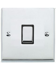 Richmond Elite Light Switch & Socket Range - Low Profile Plate With Squared Edges - Polished Chrome