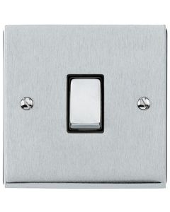 Richmond Elite Light Switch & Socket Range - Low Profile Plate With Squared Edges - Satin Chrome