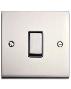 Richmond Elite Light Switch & Socket Range - Low Profile Plate With Squared Edges - Satin Nickel