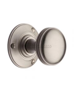 Richmond Pattern Decorative Mortice Door Knobs - Satin Nickel