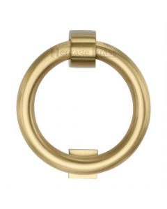 Traditional Ring Door Knocker - Satin Brass