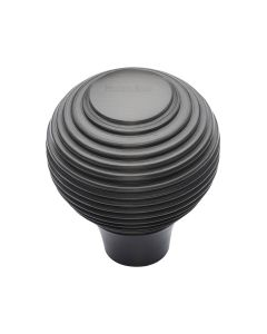 Ringed Pattern Cupboard Knob - Available In Two Sizes - Matt Bronze
