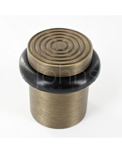 reeded-pattern-floor-mounted-door-stop-40mm-x-38mm-antique-brass